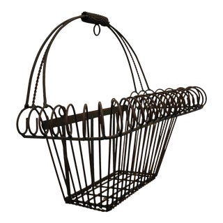 Vintage Hanging Iron Window Box Planter Basket For Sale
