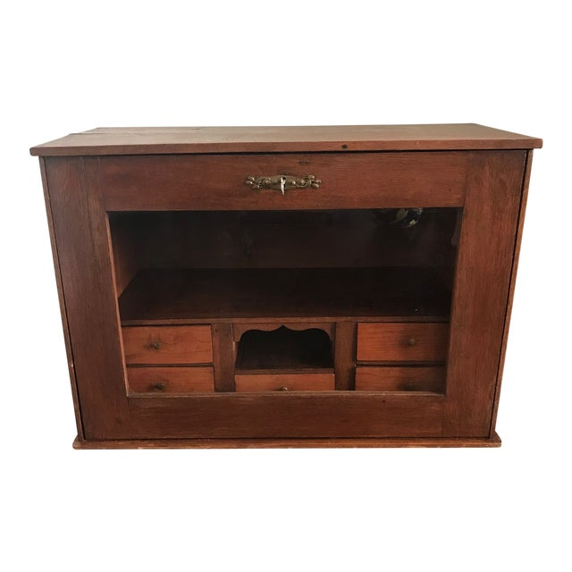 19th Century Traditional Cigar Humidor/Secretary Cabinet For Sale