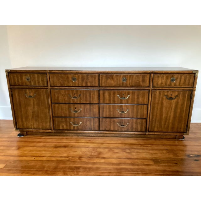 1970s Campaign Drexel Accolade Credenza For Sale - Image 13 of 13