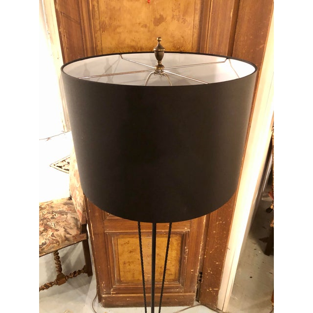 Metal French 1920's Wrought Iron Floor Lamp For Sale - Image 7 of 8