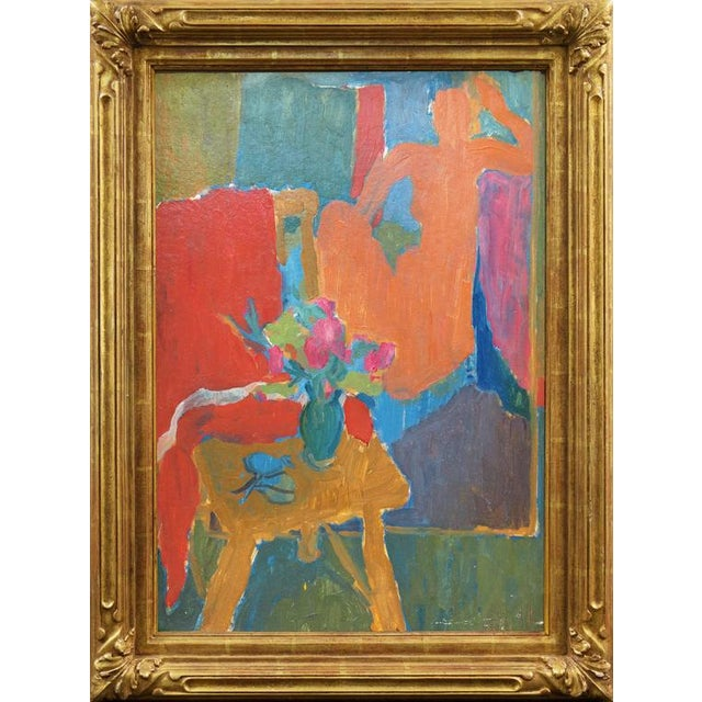 Victor DI Gesu Seated Nude in Interior For Sale - Image 4 of 8