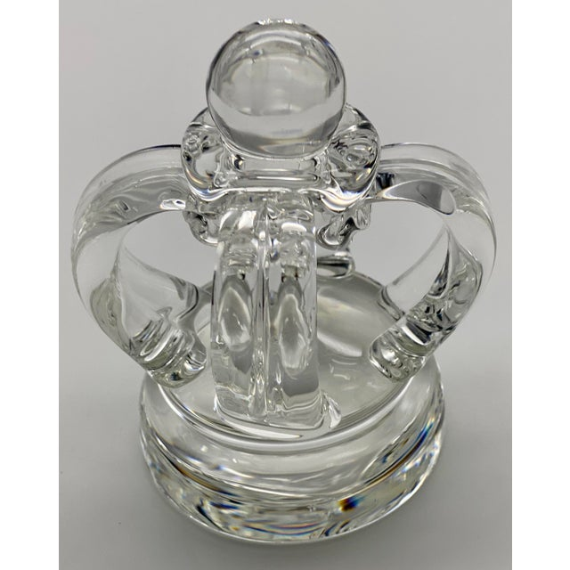 Mid-Century Modern Vintage Steuben Glass Lloyd Atkins Decorative Crystal Crown For Sale - Image 3 of 13