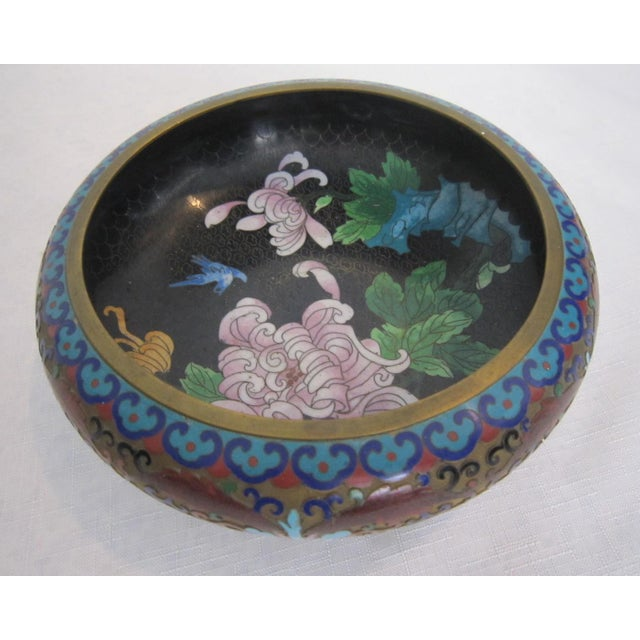 Vintage Chinese Cloisonné Bowl - Image 2 of 5
