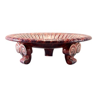 Footed Neoclassical Style Ceramic Bowl For Sale