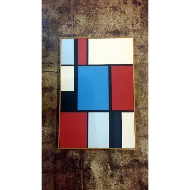 Florence Arnold MidCentury Hard Edge Oil Painting - Image 3 of 9
