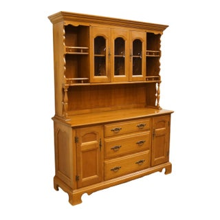"""1960s Early American Dearborn Provincetown Solid Maple Colonial Style 58"""" Buffet Preview"""