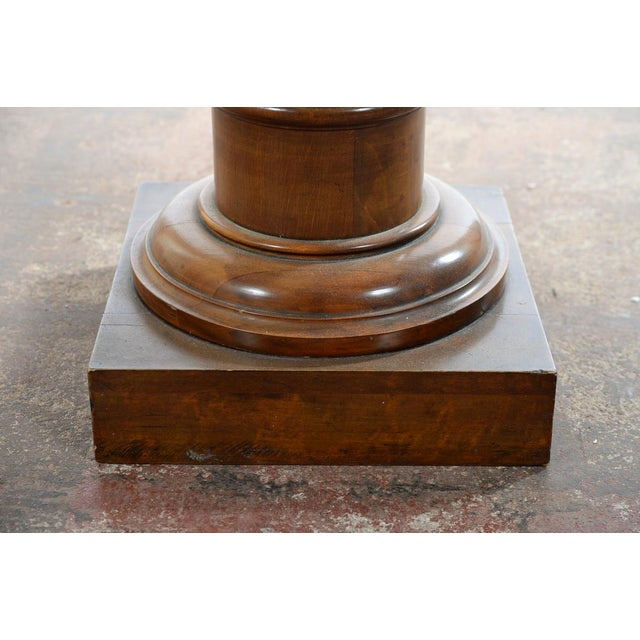 Antique Carved Colonial Walnut Pillar Pedestal - Image 9 of 10