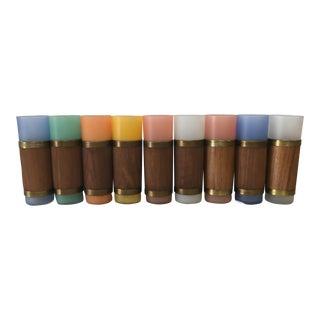 Vintage Tom Collins Iced Tea Tiki Glasses - Set of 9