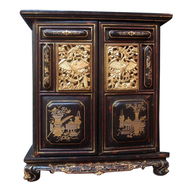 A Chinese Lacquered and Gilt Shrine For Sale