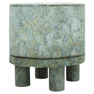 Diabase Volcanic Rock Side Table, Unique Hand-Sculpted, Rooms For Sale