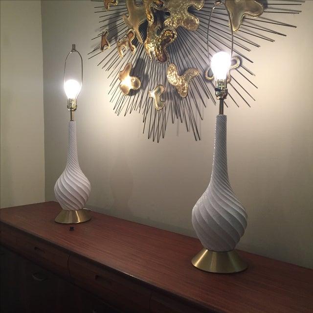 Quartite Creative Mid-Century Spiral Lamps - Pair - Image 2 of 5