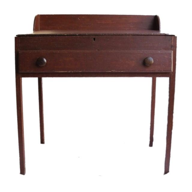 Original Red Painted Schoolmaster's Desk - Image 6 of 9