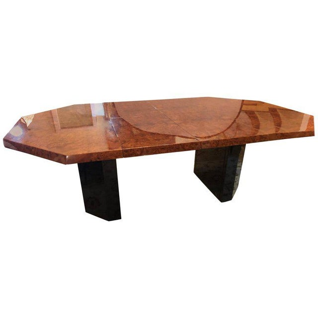 Mid-Century Milo Baughman For Thayer Coggin Burl Walnut Octagonal Dining Table For Sale - Image 11 of 12