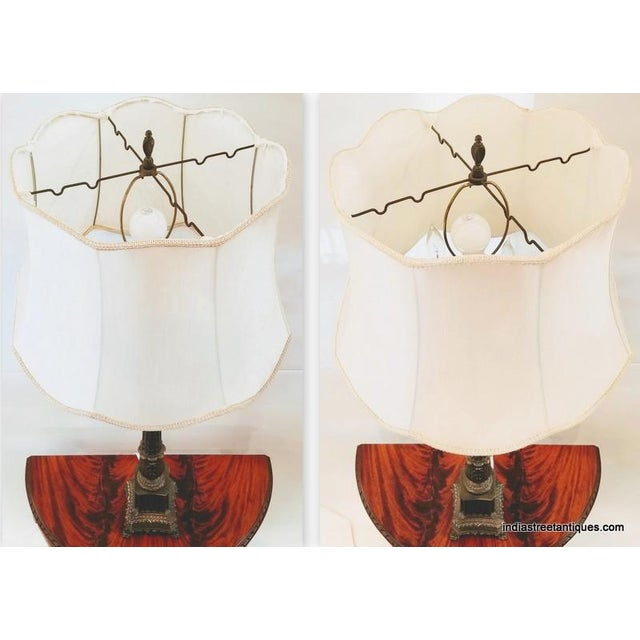 Pair Vintage 1920s French Empire Style Candelabra Table Lamps For Sale In San Diego - Image 6 of 10
