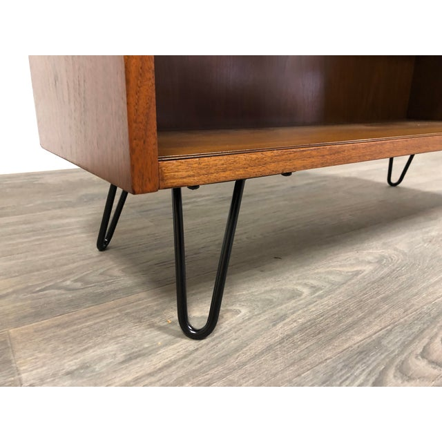 Walnut Mid Century Modern Bookcase For Sale In Boston - Image 6 of 8