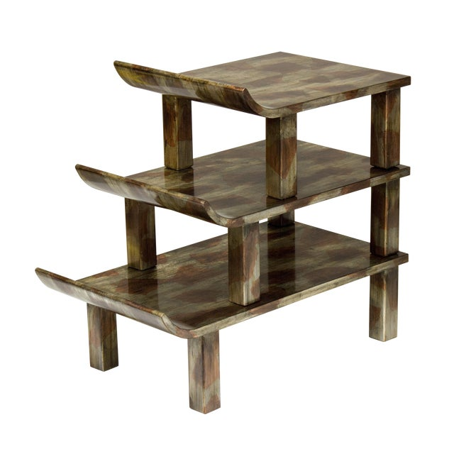 "Truex American Furniture ""Pagoda"" Side Table - Image 1 of 4"
