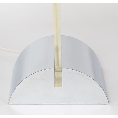Modern GEORGE KOVACS POLISHED CHROME AND LUCITE TABLE LAMP, CIRCA 1970S For Sale - Image 3 of 8