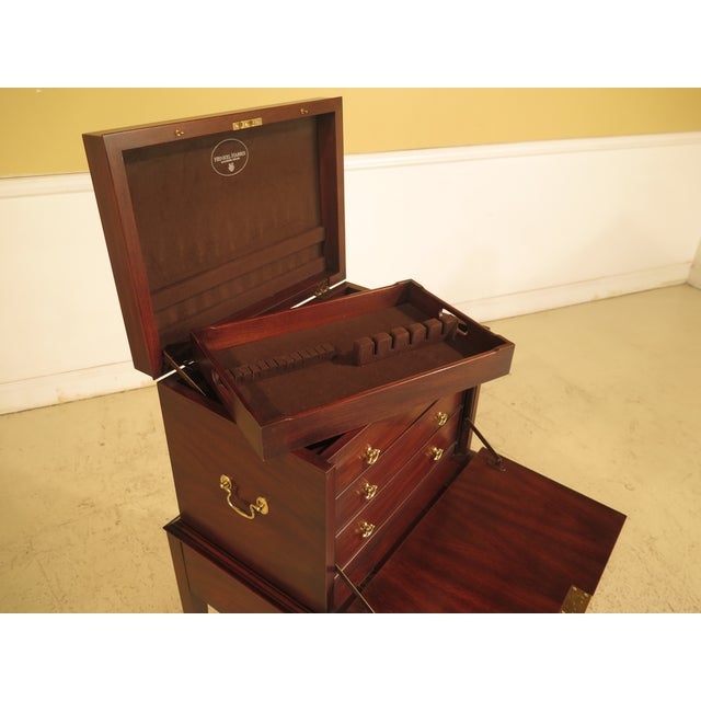 Henkel Harris Inlaid Mahogany Model Silver Chest - Image 8 of 11