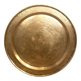 Solid Brass Tray with Dragon