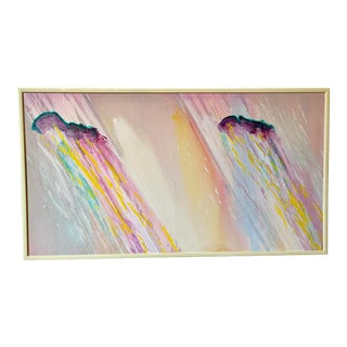 1980s Large Scale Abstract Painting For Sale