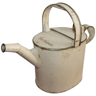 Hot Water Tin Canister in Original Paint, 19th Century For Sale