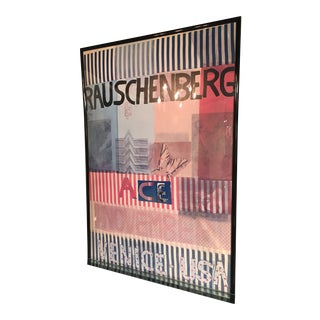1970s Robert Rauschenberg Poster for Flow Ace Gallery, Venice California For Sale