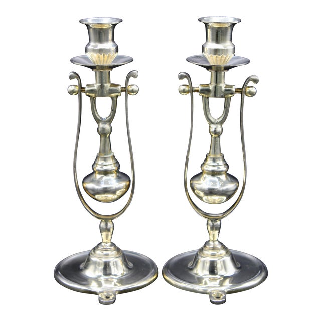 Brass Ship Gimbal Candlestick Wall Sconces - a Pair For Sale