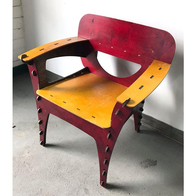 Boho Chic Modern Puzzle Chair by David Kawecki For Sale - Image 3 of 11