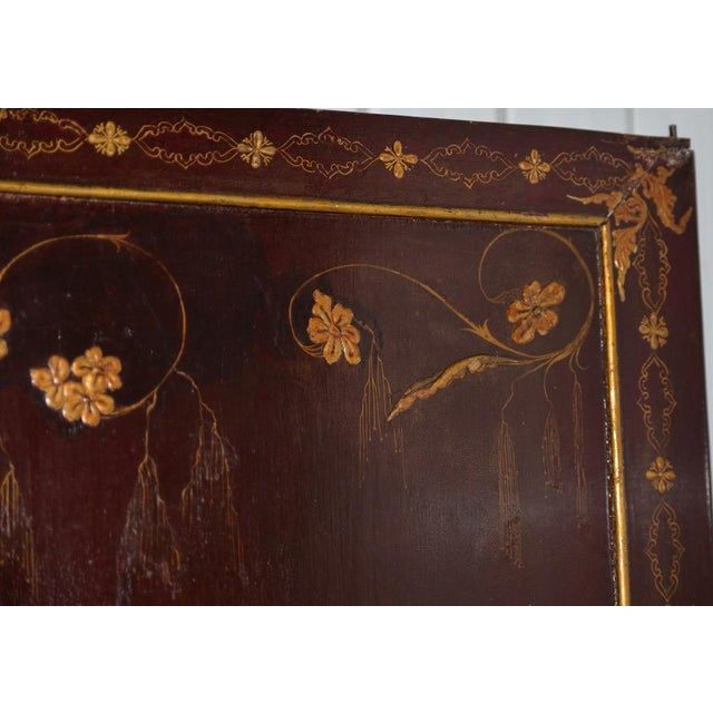 Asian 18th to 19th Century Chinese Hand Painted Door Panels - a Pair For Sale - Image 3 of 12