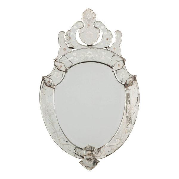Late 19th Century Venetian Shield Form Wall Mirror For Sale - Image 10 of 10