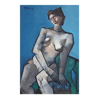 Edward Boccia Cubist Style Nude Evelyn, 2004 For Sale