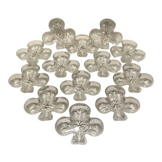 Vintage Tiara Club Pressed Glass Bridge Nut Dishes by Indiana Glass-Set of 13 For Sale