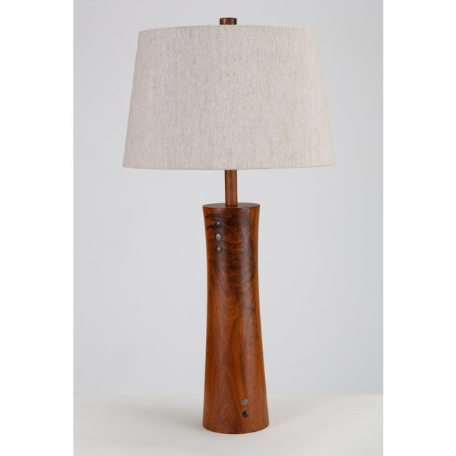 Wooden Table Lamp With Tile Inlay by Gordon & Jane Martz For Sale - Image 10 of 10