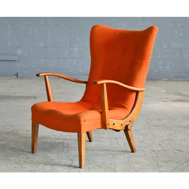 Otto Færge Attributed Reclining Lounge in Teak, Denmark, 1950s For Sale - Image 10 of 10