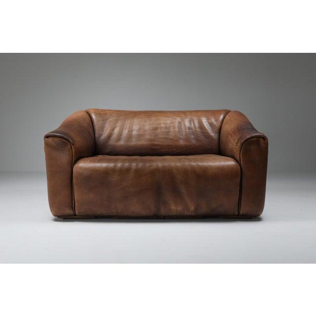 De Sede 1970s De Sede Ds 47 Brown Leather Sofa For Sale - Image 4 of 9