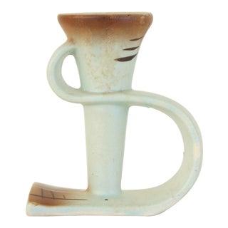 Vintage Japanese Ceramic Sculptural Candle Holder For Sale