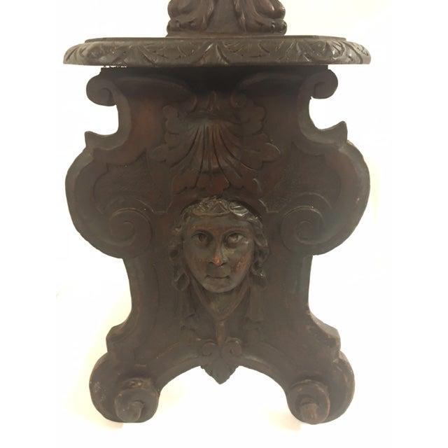 Irish Carved Hall Chair - Image 6 of 6