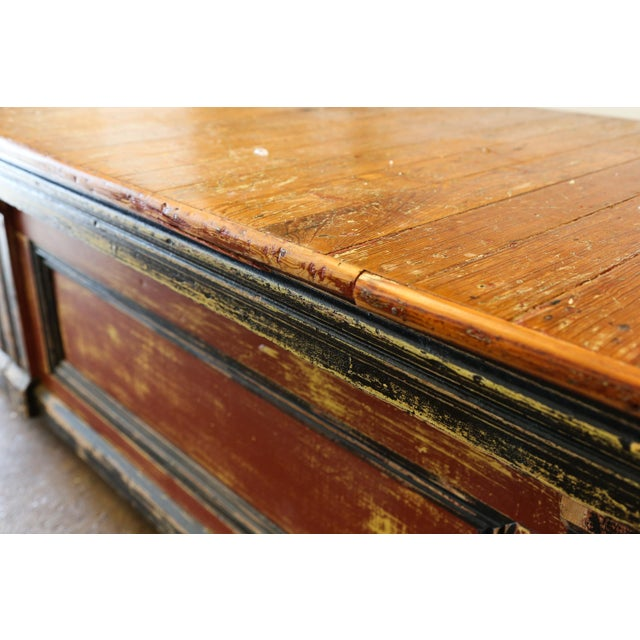 Large Vintage Wood Counter - Image 6 of 7