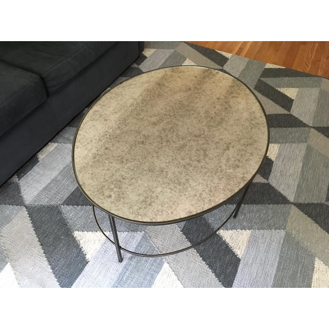 West Elm Foxed Mirror Oval Coffee Table - Image 3 of 4