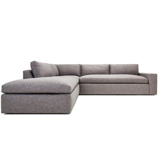Clad Home Grey Contemporary Sectional Sofa
