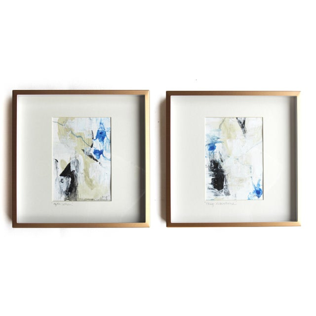 Abstract They Disentwine Framed Painting - Image 5 of 6