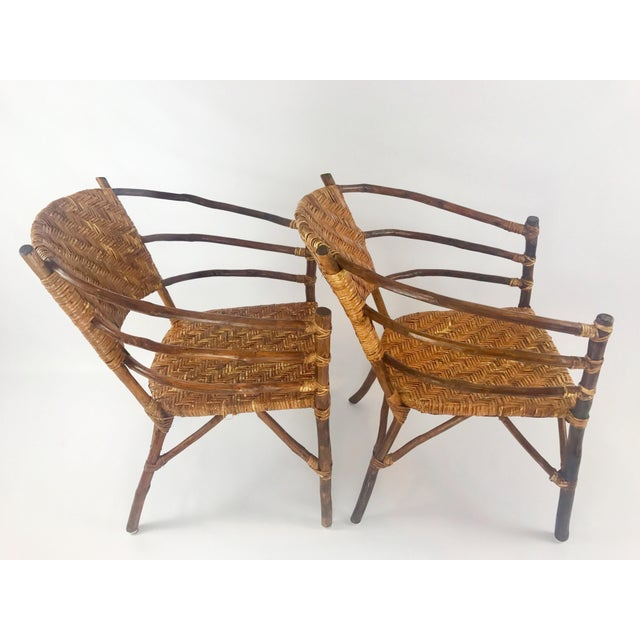 Vintage Barrel Backed Hickory Hoop Arm Chairs - A Pair For Sale In Salt Lake City - Image 6 of 11