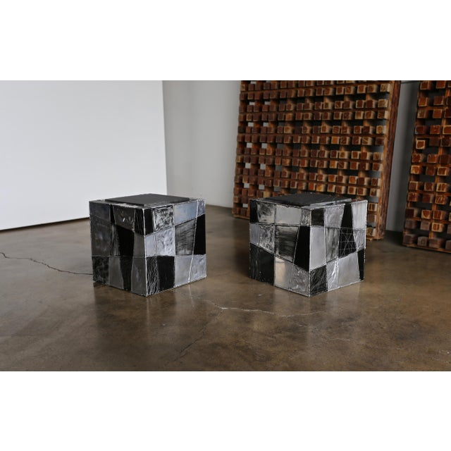 "Paul Evans ""Argente"" Cube Side Tables For Sale - Image 13 of 13"
