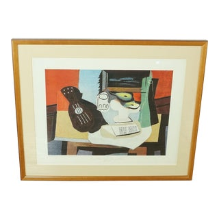 """""""Guitar, Glass and Fruit"""" Print by Picasso For Sale"""