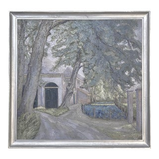 Antique Framed Oil Painting on Canvas by Floris De Groot For Sale