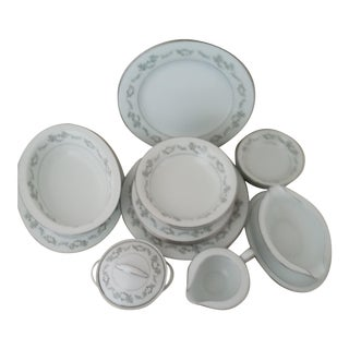 1960s Mid-Century Modern Noritake China Dishes - Set of 19 For Sale