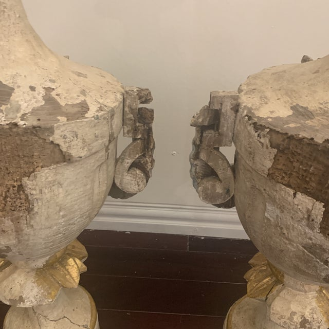 18th Century Antique Portuguese Finials - a Pair For Sale In Houston - Image 6 of 13