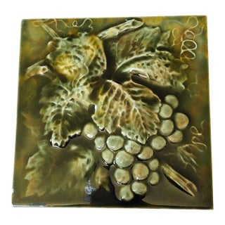 Grapes Tile / Trivet For Sale