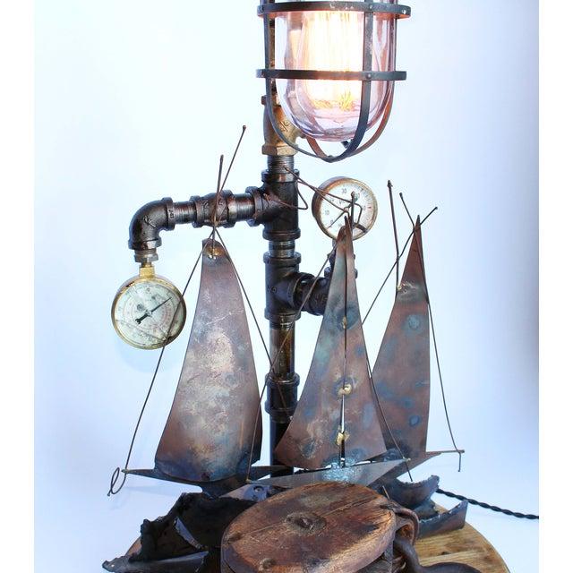 Vintage Nautical Lamp - Image 4 of 7