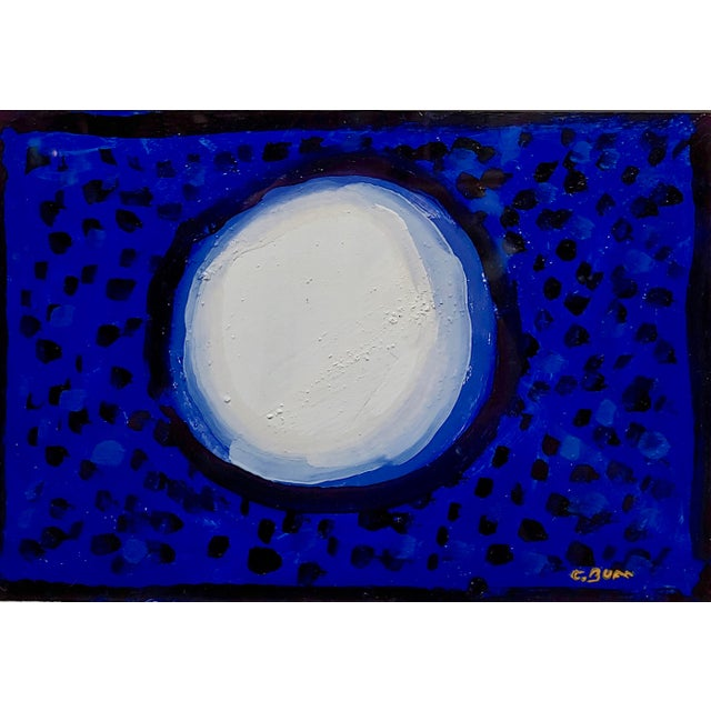 "Abstract Conrad Buff ""Snowball Over a Deep Blue"" Modernist Oil Painting For Sale - Image 3 of 8"